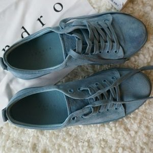 NWT Sandro suede sneakers